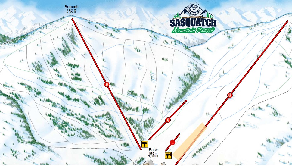 Sasquatch mountain resort map