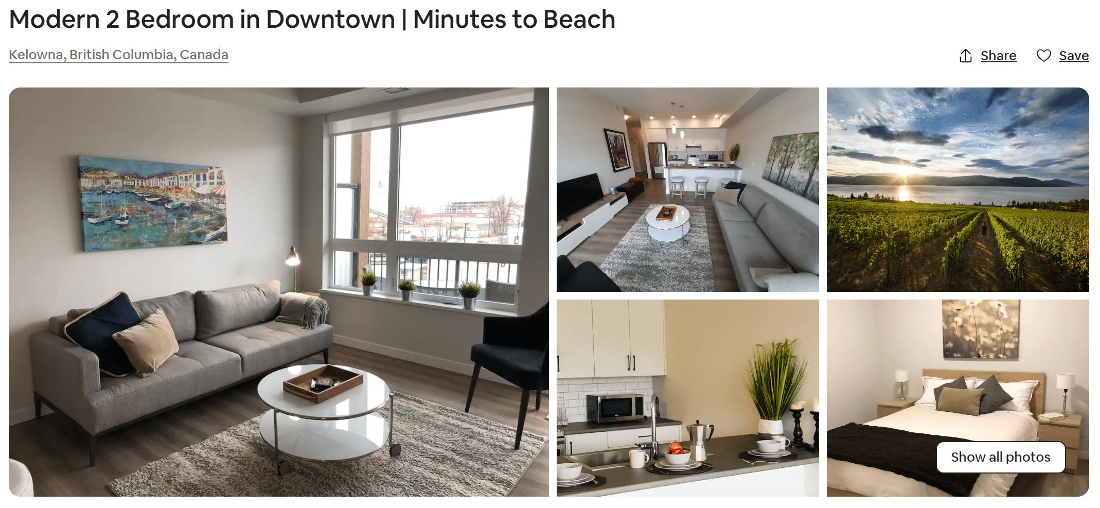Kelowna Airbnb Photo Gallery
